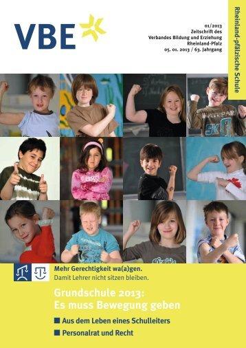 Grundschule 2013: Es muss Bewegung geben - VBE