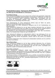 Produktinformation: Hartwachs-Öl Weißgrund