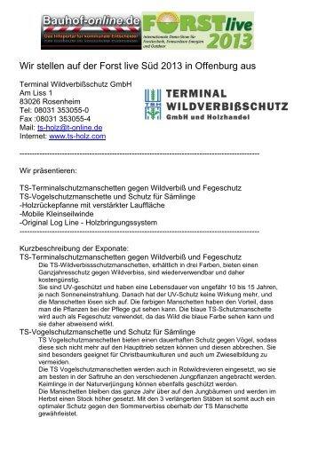 Terminal Wildverbißschutz GmbH - Forst live