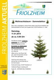 Blättle KW51 - Friolzheim