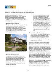 Cultural Heritage Landscapes – An Introduction