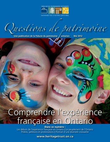 Comprendre l'expérience française en Ontario - Fiducie du ...