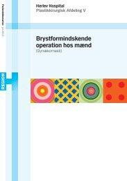 Brystformindskelse hos mænd - Herlev Hospital