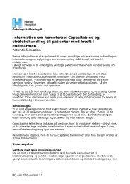 Information om kemoterapi Capecitabine og ... - Herlev Hospital