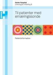 Til patienter med ernæringssonde - Herlev Hospital