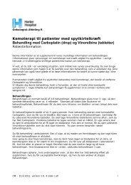 Behandling af kræft i spytkirtlen med Carboplatin ... - Herlev Hospital