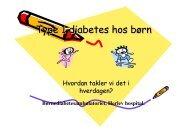 Type 1 diabetes hos børn Type 1 diabetes hos børn - Herlev Hospital