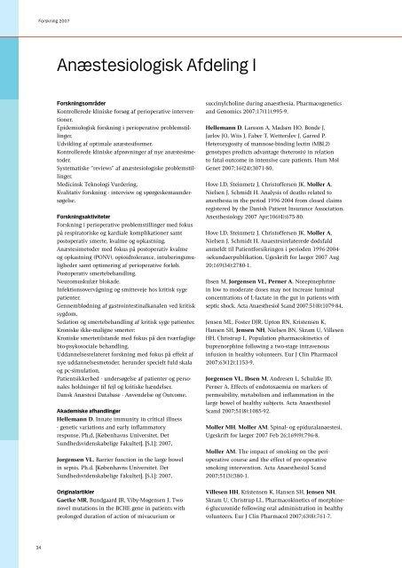 Forskning 2007 - Herlev Hospital