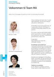 Velkomstpjece: Velkommen til Team MA - Herlev Hospital