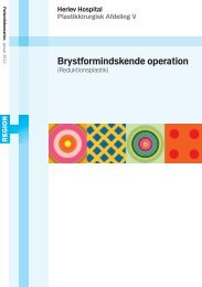 Brystformindskende operation - Herlev Hospital