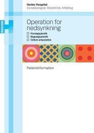 Operation for nedsynkning - Herlev Hospital