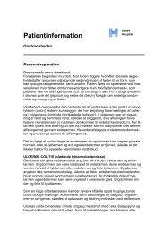 Reservoiroperation - Herlev Hospital