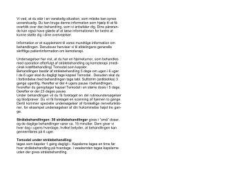 Behandling af hjernetumor (gliolastom) - Herlev Hospital