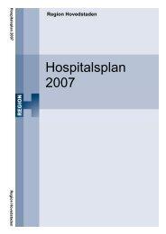 Hospitalsplan 2007 - Herlev Hospital