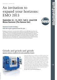 momentum No. 6 - September 2013 - HAAS Schleifmaschinen GmbH