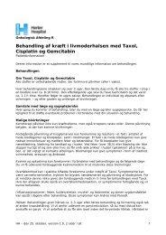 Behandling af kræft i livmoderhalsen med Taxol ... - Herlev Hospital
