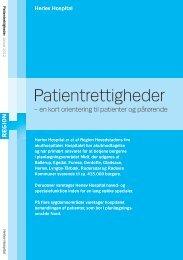 Patientrettigheder - en kort orientering til patienter ... - Herlev Hospital