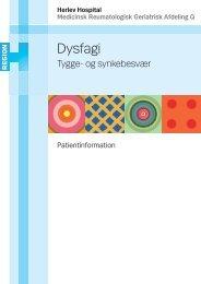 Dysfagi (tygge- og synkebesvær) - Herlev Hospital