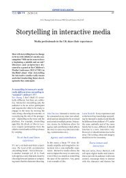 Storytelling in interactive media - Bayerischer Rundfunk
