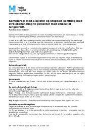 Kemoterapi med Cisplatin og Etoposid samtidig ... - Herlev Hospital