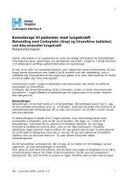 Kemoterapi til patienter med lungekræft ... - Herlev Hospital