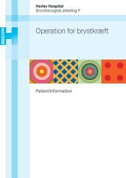 Operation for brystkræft - Herlev Hospital