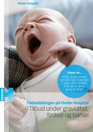 Tilbud under graviditet, fødsel og barsel - Herlev Hospital