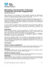 Behandling med Gemcitabin (lindrende) Til ... - Herlev Hospital