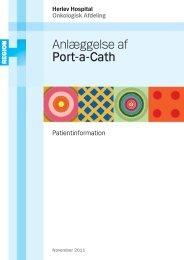 Anlæggelse af Port-a-Cath - Herlev Hospital