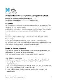 Patientinformation - vejledning om jodfattig kost - Herlev Hospital