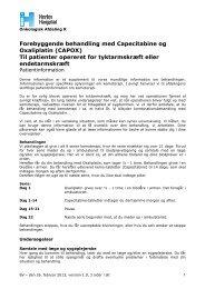 Forebyggende behandling med Capecitabine og ... - Herlev Hospital