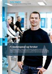 Herlev Hospital Forskningsårsberetning 2009 Fysioterapeut og forsker