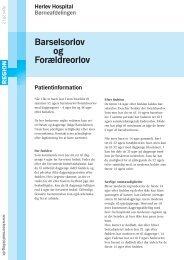 Barselsorlov og forældreorlov.pdf - Herlev Hospital