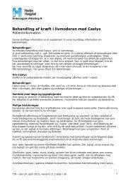 Behandling af kræft i livmoderen med Caelyx - Herlev Hospital