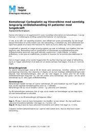 Kemoterapi Carboplatin og Vinorelbine med ... - Herlev Hospital