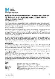 Behandling med Capecitabine + Irinotecan ... - Herlev Hospital