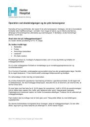 Operation ved skedeindgangen og de ydre ... - Herlev Hospital