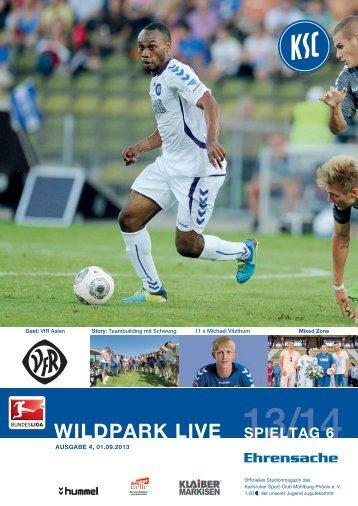 Stadionzeitung 6. Spieltag (KSC - VfR Aalen) - Karlsruher SC