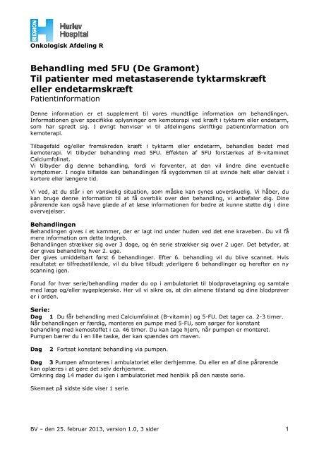 Til patienter med metastaserende tyktramskræft og ... - Herlev Hospital