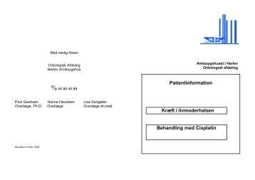 Kræft i livmoderhalsen Behandling med Cisplatin - Herlev Hospital