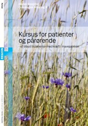 Kursus for patienter og pårørende - Herlev Hospital