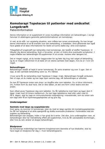 Kemoterapi Topotecan til patienter med småcellet ... - Herlev Hospital