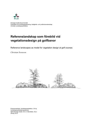 Examensarbete magisternivå - SLU