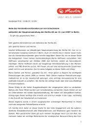 Rede des Vorstandsvorsitzenden Jan von ... - Herlitz PBS AG