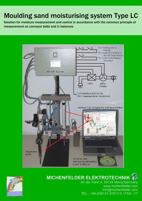 Moulding sand moisturising system Type LC - Michenfelder