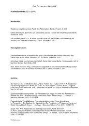 Prof. Dr. Hermann Kappelhoff 1 Publikationsliste (02.01.2011)