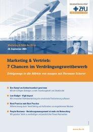 Marketing & Vertrieb: 7 Chancen im Verdrängungswettbewerb - ZFU ...