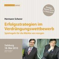 Erfolgsstrategien im Verdrängungswettbewerb - Hermann Scherer