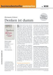 Business Bestseller Summaries - Hermann Scherer