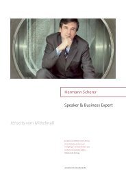Speaker & Business Expert Jenseits vom ... - Hermann Scherer